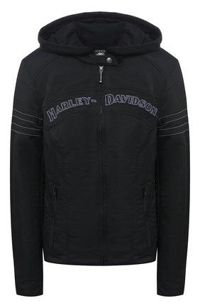 Женская куртка с жилетом general motorclothes HARLEY-DAVIDSON черного цвета, арт. 98519-12VW | Фото 1