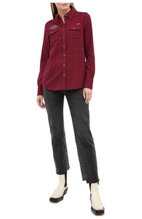 Женская хлопковая рубашка general motorclothes HARLEY-DAVIDSON красного цвета, арт. 99038-20VW | Фото 2