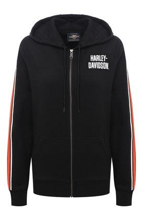 Женский хлопковая толстовка general motorclothes HARLEY-DAVIDSON черного цвета, арт. 99111-20VW   Фото 1