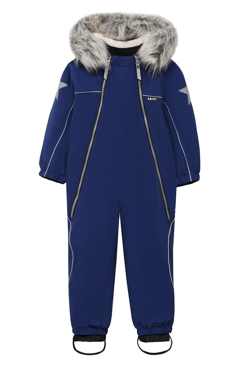 Детского комбинезон pyxis fur recycle MOLO темно-синего цвета, арт. 5W20N105 | Фото 1