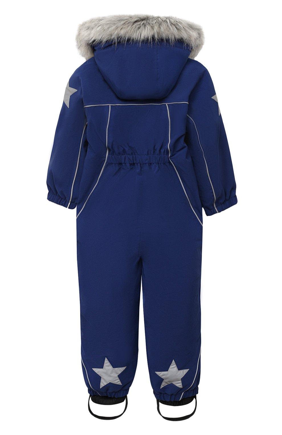 Детского комбинезон pyxis fur recycle MOLO темно-синего цвета, арт. 5W20N105 | Фото 2