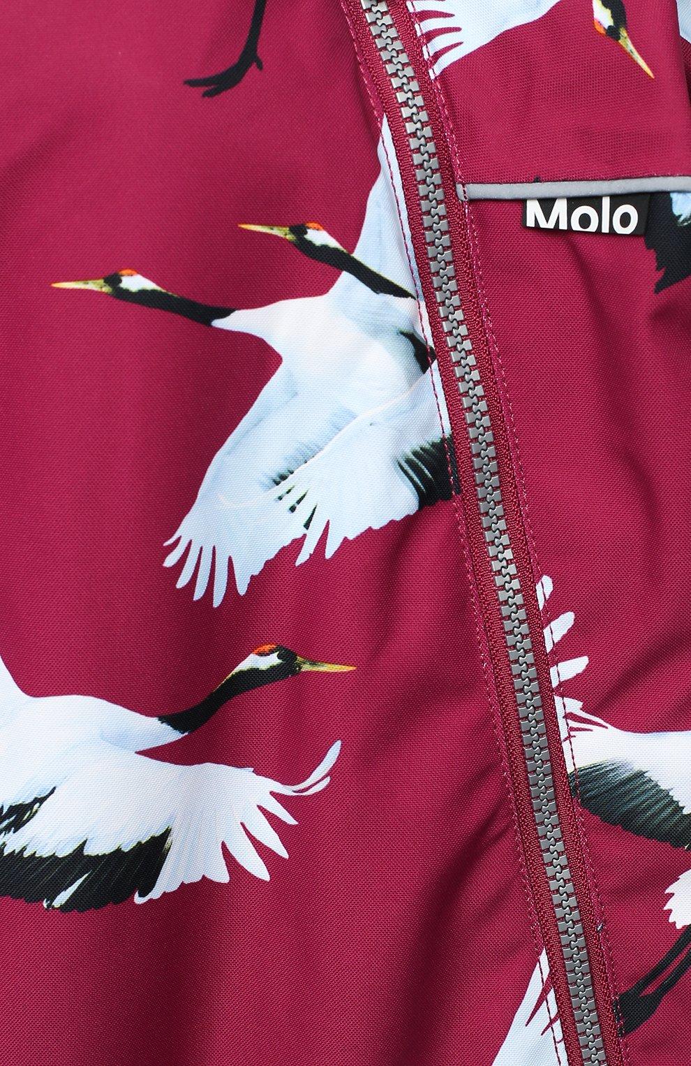 Детского комбинезон pyxis fur MOLO бордового цвета, арт. 5W20N102   Фото 3