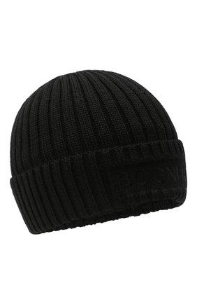 Детского шерстяная шапка BOGNER KIDS черного цвета, арт. 95056125 | Фото 1