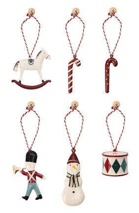 Детского комплект елочных игрушек MAILEG разноцветного цвета, арт. 14-0525-00 | Фото 1