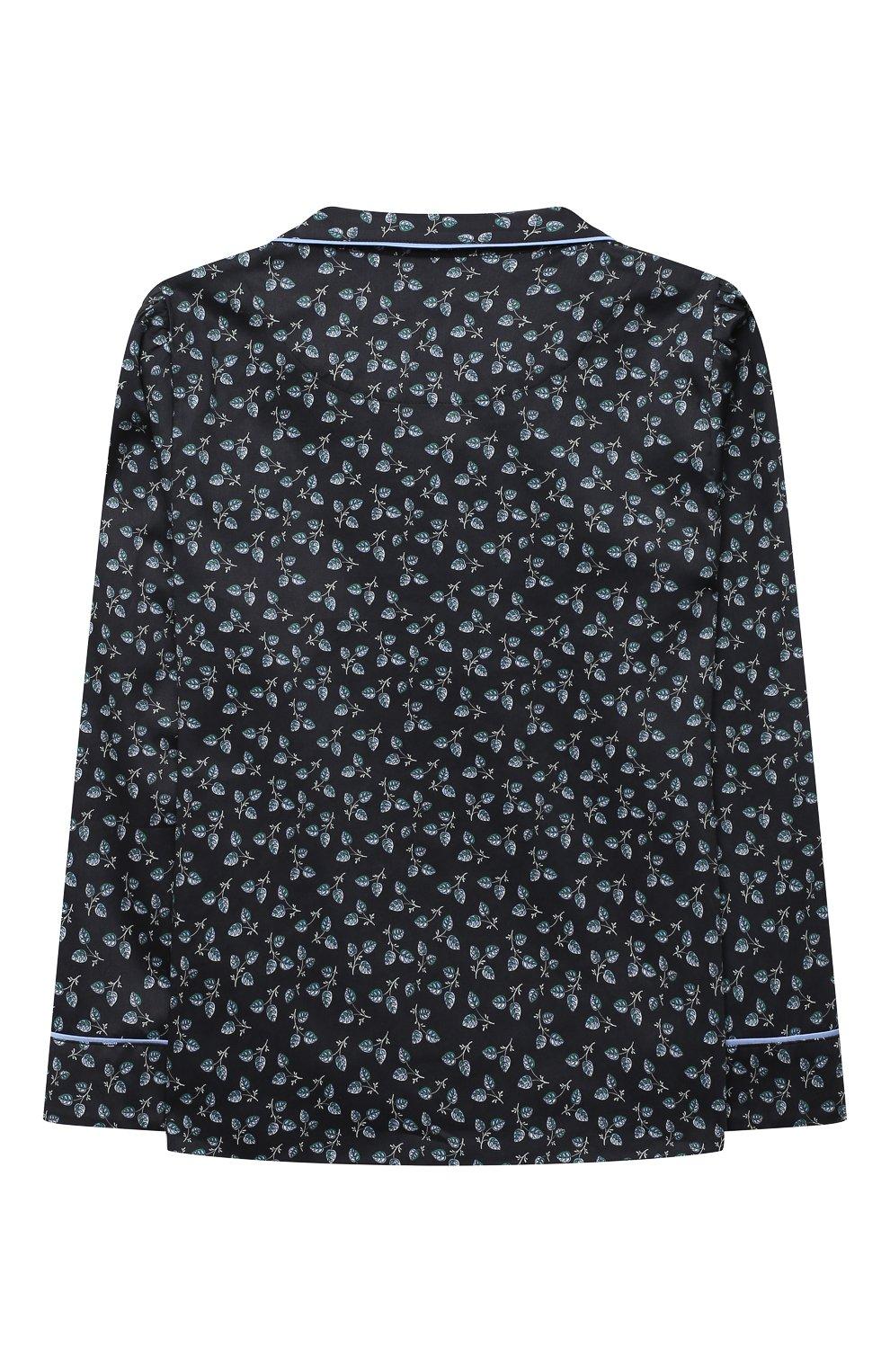 Детская хлопковая пижама LITTLE YOLKE черного цвета, арт. SS21-12C-LE-DE/9-12Y | Фото 3