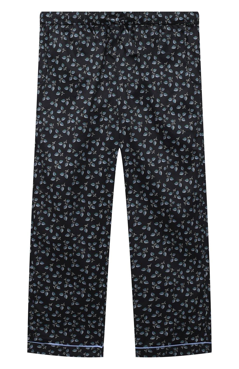 Детская хлопковая пижама LITTLE YOLKE черного цвета, арт. SS21-12C-LE-DE/9-12Y | Фото 4