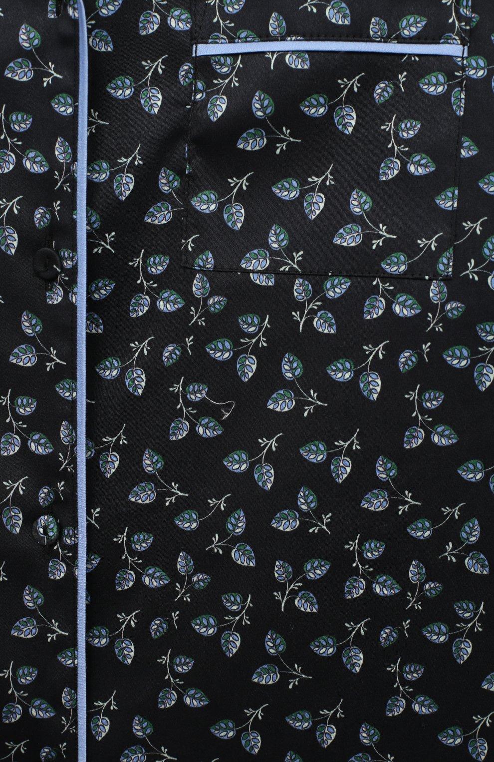 Детская хлопковая пижама LITTLE YOLKE черного цвета, арт. SS21-12C-LE-DE/9-12Y | Фото 6