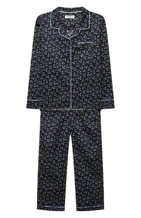 Детская хлопковая пижама LITTLE YOLKE черного цвета, арт. SS21-12C-LE-DE/1-8Y | Фото 1