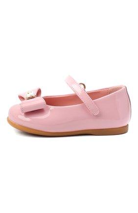 Детские кожаные балетки DOLCE & GABBANA розового цвета, арт. D20068/A1328 | Фото 2 (Материал внутренний: Натуральная кожа)