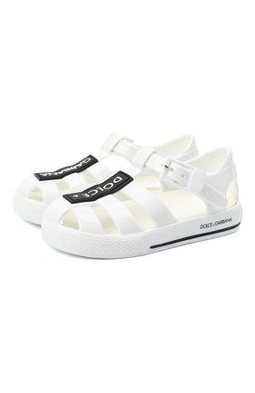 Детские сандалии DOLCE & GABBANA белого цвета, арт. DN0115/AK498   Фото 1