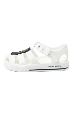 Детские сандалии DOLCE & GABBANA белого цвета, арт. DN0115/AK498   Фото 2