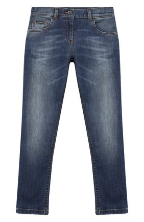 Детские джинсы DOLCE & GABBANA темно-синего цвета, арт. L51F53/LD719/2-6 | Фото 1