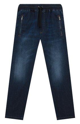 Детские джинсы DOLCE & GABBANA синего цвета, арт. L43P02/LD946/8-14   Фото 1