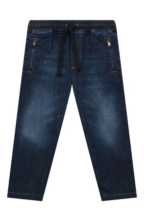 Детские джинсы DOLCE & GABBANA синего цвета, арт. L43P02/LD946/2-6 | Фото 1