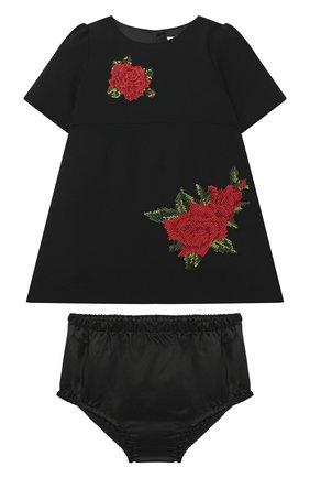 Женский комплект из платья и шорт DOLCE & GABBANA черного цвета, арт. L22DR3/G7XVP | Фото 1