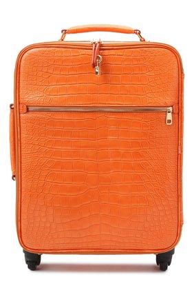 Женский чемодан из кожи крокодила DOLCE & GABBANA оранжевого цвета, арт. BB6202/B247C | Фото 1 (Размер: large; Ограничения доставки: oversized)