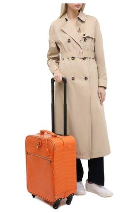 Женский чемодан из кожи крокодила DOLCE & GABBANA оранжевого цвета, арт. BB6202/B247C | Фото 2 (Размер: large; Ограничения доставки: oversized)