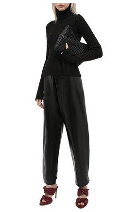 Женские кожаные мюли bv curve BOTTEGA VENETA бордового цвета, арт. 618757/VBTG0   Фото 2