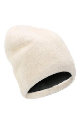 Женская шапка из меха норки KUSSENKOVV светло-бежевого цвета, арт. 71200012673 | Фото 1