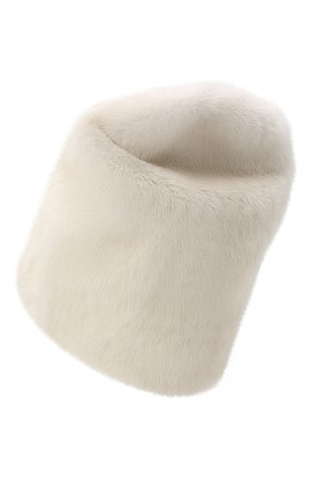 Женская шапка из меха норки KUSSENKOVV светло-бежевого цвета, арт. 71200012673 | Фото 2