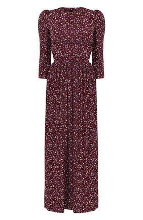 Женское платье из вискозы ULYANA SERGEENKO темно-коричневого цвета, арт. ABM001CLASS (2082т19) | Фото 1