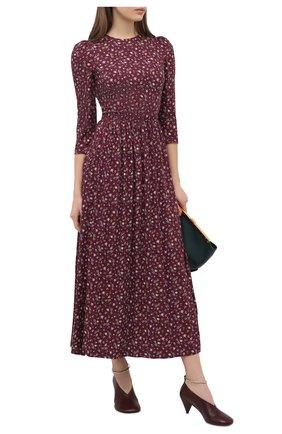 Женское платье из вискозы ULYANA SERGEENKO темно-коричневого цвета, арт. ABM001CLASS (2082т19) | Фото 2