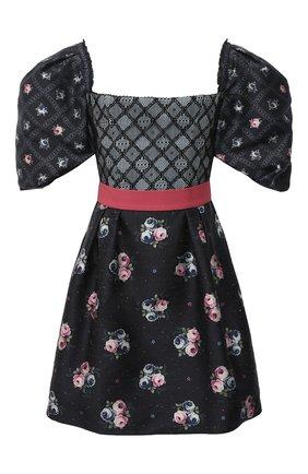 Женское шелковое платье ULYANA SERGEENKO черного цвета, арт. ABC006SS20P(1003т20) | Фото 1