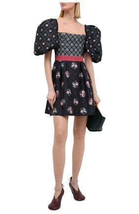 Женское шелковое платье ULYANA SERGEENKO черного цвета, арт. ABC006SS20P(1003т20) | Фото 2