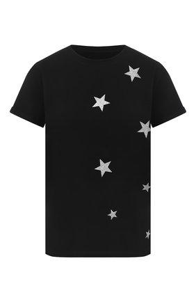 Женская хлопковая футболка SEVEN LAB черного цвета, арт. T20-STARS-G021 black | Фото 1