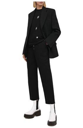 Женская хлопковая футболка SEVEN LAB черного цвета, арт. T20-STARS-G021 black | Фото 2