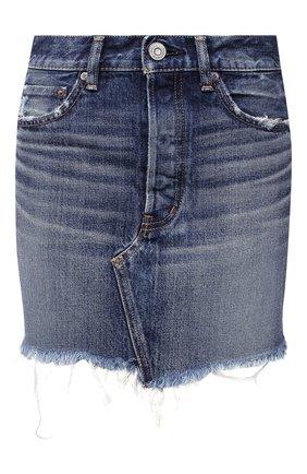 Женская джинсовая юбка MOUSSY синего цвета, арт. 025DAC11-2390 | Фото 1