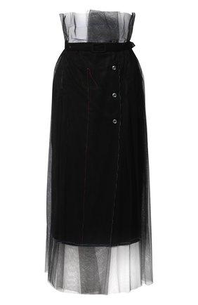 Женская юбка MAISON MARGIELA черного цвета, арт. S29MA0494/S42588   Фото 1