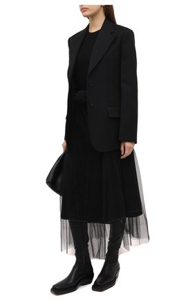 Женская юбка MAISON MARGIELA черного цвета, арт. S29MA0494/S42588   Фото 2