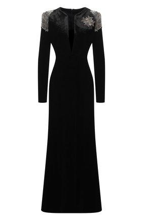 Женское платье GIORGIO ARMANI черного цвета, арт. 6HAA59/AJKAZ | Фото 1