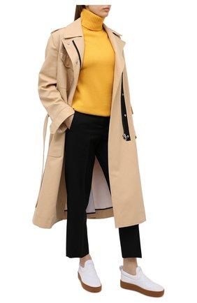 Женские кожаные слипоны BOTTEGA VENETA белого цвета, арт. 639739/V02X0 | Фото 2