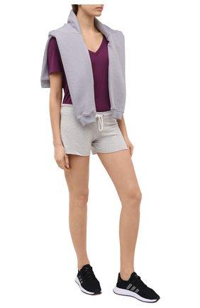 Женская футболка из смеси вискозы и хлопка MONROW бордового цвета, арт. HT218CM | Фото 2