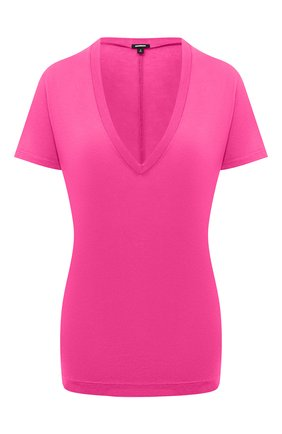 Женская футболка из смеси вискозы и хлопка MONROW розового цвета, арт. HT218CM | Фото 1