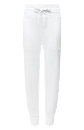 Женские хлопковые джоггеры JAMES PERSE белого цвета, арт. WHVJ1677 | Фото 1