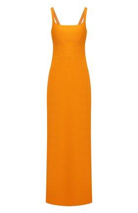 Женское платье из вискозы BRANDON MAXWELL оранжевого цвета, арт. GN177PF20 | Фото 1