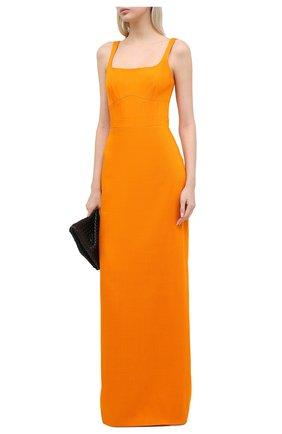 Женское платье из вискозы BRANDON MAXWELL оранжевого цвета, арт. GN177PF20 | Фото 2