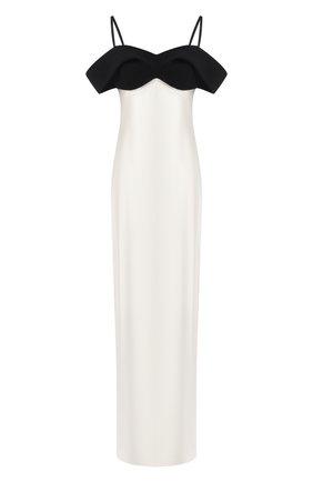 Женское шелковое платье BRANDON MAXWELL черно-белого цвета, арт. GN176PF20 | Фото 1
