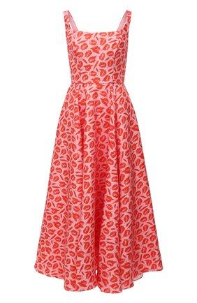 Женское шелковое платье BRANDON MAXWELL оранжевого цвета, арт. DR259PF20 | Фото 1