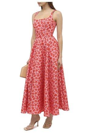 Женское шелковое платье BRANDON MAXWELL оранжевого цвета, арт. DR259PF20 | Фото 2