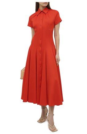 Женское платье BRANDON MAXWELL оранжевого цвета, арт. DR251PF20 | Фото 2