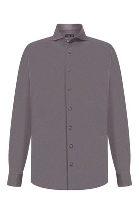 Мужская хлопковая рубашка VAN LAACK темно-серого цвета, арт. M-PER-L/180031/3XL | Фото 1