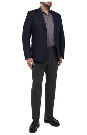 Мужская хлопковая рубашка VAN LAACK темно-серого цвета, арт. M-PER-L/180031/3XL | Фото 2