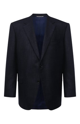 Мужской пиджак из шерсти и кашемира CANALI темно-синего цвета, арт. T11280/CX02741/112/60-64   Фото 1