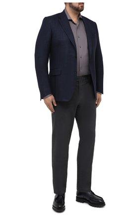 Мужской пиджак из шерсти и кашемира CANALI темно-синего цвета, арт. T11280/CX02741/112/60-64   Фото 2
