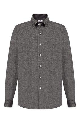 Мужская хлопковая рубашка SONRISA серого цвета, арт. IL7/L1084 | Фото 1