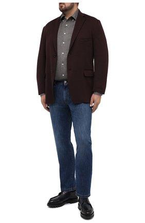 Мужская хлопковая рубашка SONRISA серого цвета, арт. IL7/L1084 | Фото 2